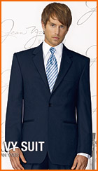 Style #112, Jean Yves Navy 2-Button Notch Suit