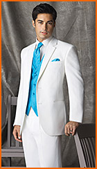 Style #197, After Six White 2-Button Notch